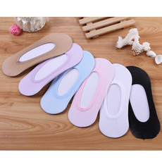 5Pairs Chic Women Invisible Liner No Show Antiskid Slipper Ped Low Cut Socks