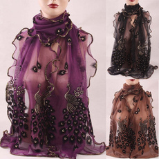 Women's Fashion, peacock, Scarves, women scarf