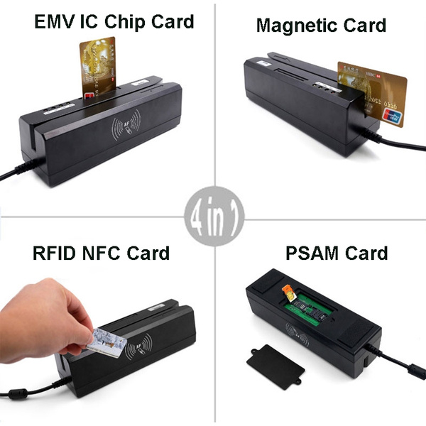 ZCS80 4-in-1 All 3 Tracks Magnetic Stripe/EMV IC Chip Card/RFID NFC/PSAM  Card Reader Writer + free SDK Software