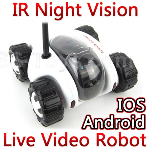 Cloud Rover Wifi Tank Iphone Ipad iOS Android Remote Control RC Car Toy Spy  Tank Robot with camera real-time video night vision