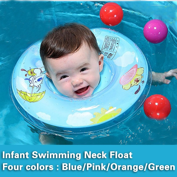 Baby Swim Swimming Neck Float Inflatable Ring Tube Adjustable Safety Aids
