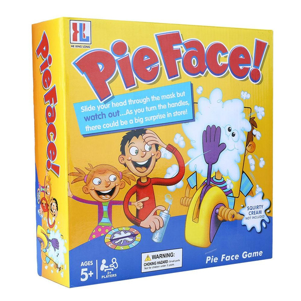 Exciting Pie Face / Family Kids Children Novelty Fun Gift