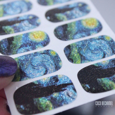 nailvinylstencil, Blues, nail stickers, Beauty