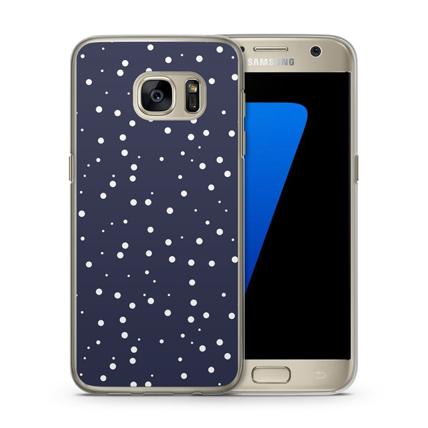 wish weisse punkte muster samsung galaxy s7 edge hlle cover case schale design - Galaxy Muster