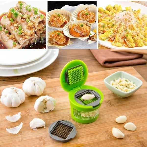 Practical Home Kitchen Tool Kit Garlic Press Chopper Slicer Hand Presser Garlic Grinder