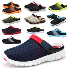 Summer New Men Women Slip-on flats Breathable Mesh Leisure Fashion Slippers Unisex Couples Casual Sandals Zapatos Plus Size