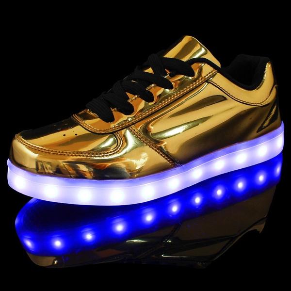 Großbritannien günstig aktuelles Styling Herren Damen LED Schuhe Farbwechsel 7 Farben USB Leuchtschuhe Sneaker  Turnschuhe Für Abschlussball-Partei Valentinstag