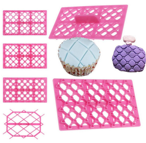 Picture of Hot Cake Fondant Embosser Cutter Icing Cupcake Embossing Mold Mould Pastry Tool Zhai
