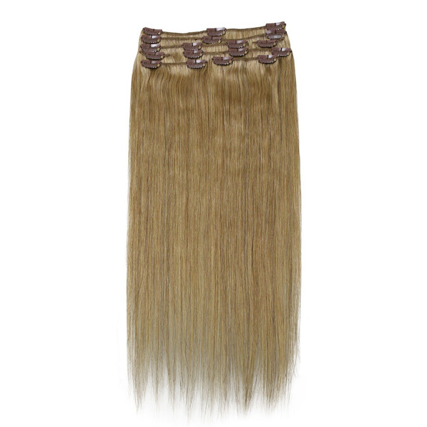 Wish 100 Real Human Hair Full Head Clip In Human Hair Extensions