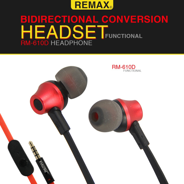 REMAX RM-610D Noise Isolating in Ear Canal Headphones Earphones with Pure  Sound and Powerful Bass for iPhone, iPad, iPod, Samsung, Nokia, HTC,MP3