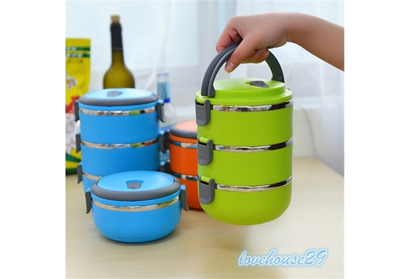 High Quality Outdoor Camping Thermal Insulated Multilayer Stainless Steel Students Children Bento Picnic Storage Mess Tin Food Jar Lunch Box