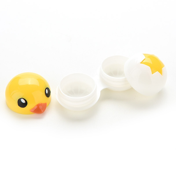 Contact Lenses Lens Case Holder Box Portable Travel Kit Set  Cute Yellow Duck fashionable and hot