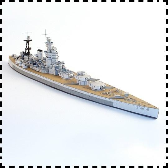 The British Nelson class battleship battleship model 1:400 paper model  military house manual DIY