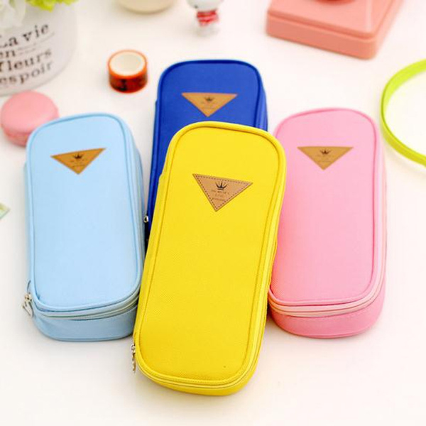 Picture of Large Capacity Canvas Pencil Cases Pen Bags Box Stationery