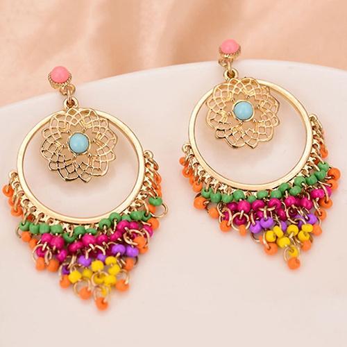 tasselsearring, bohojewelry, dangleearing, Stud Earring