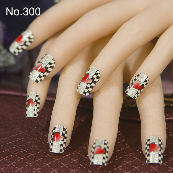Wish 24pcs Per Set Fake False French Acrylic Nail Tips Full Cover