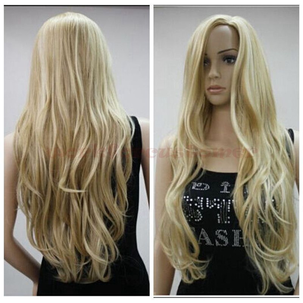 Y Mix Blonde Long Wavy Women Heat