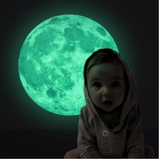 Lage 30cm Non-toxic Noctilucent Decals Luminous Moon Glow in the Dark Wall Stickers Moonlight Home Decor DIY Room