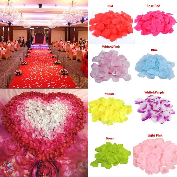 Picture of 500pcs New Fashion Artificial Silk Flower Petals Rose Wedding Party Decoration Rose Petals
