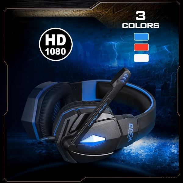Stereo Surround Gaming Headsets Ps4 Pc Laptop Bluetooth Headsets With Microphone Led Light Loud Headphones Noise Cancelling Headsets Casque Audio Horlur Wish