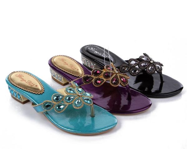 9089a4c8290bf Unicoratha Ladies Diamante Jewelled Sandals Summer Beach Flip Flops ...