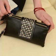 rivetclutchpurse, leather wallet, partyshoppingbag, Card Holder Wallet