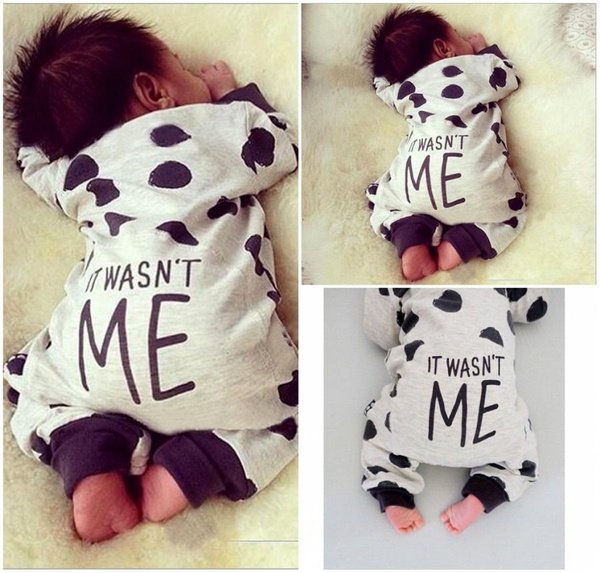 Newborn Toddler Infant Baby Boy Girl Long sleeve Romper Jumpsuit Bodysuit Clothes Outfits 0-24M