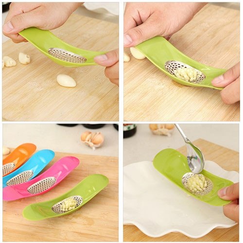 Hot New Novelty Cooking Tool Kitchen Knife Utensils Accessories Gadget Kitchen Garlic Press Garlic Crusher Cutter