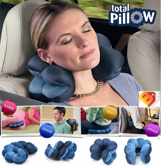 Fashion Cars Accessories Comfortable Travel Total Pillow Neck Cushion Twist Plum Blossom Shape Support Decorative Pillows Gift (Color: Blue)