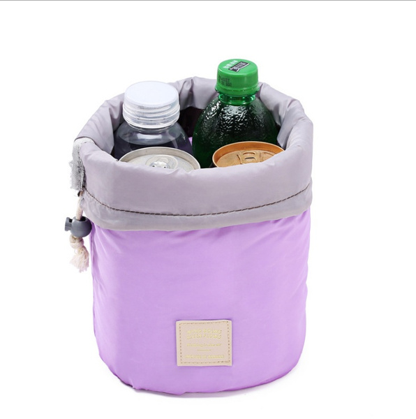 New Fashion Travel Makeup Bag Cosmetic Pouch Handbag Toiletry Antique Case Cylindrical