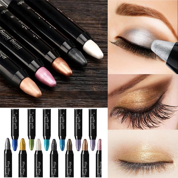 Picture of Eyeshadow Pencil Waterproof Shimmer Eye Shadow Glitter Eyeliner Mulit Funcation Makeup Pen Highlighter Cosmetic Tools