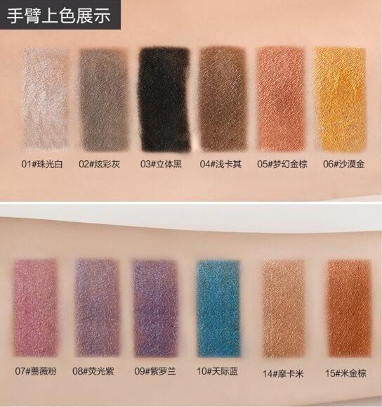 Eyeshadow Pencil Waterproof Shimmer Eye Shadow Glitter Eyeliner Mulit Funcation Makeup Pen Highlighter Cosmetic Tools