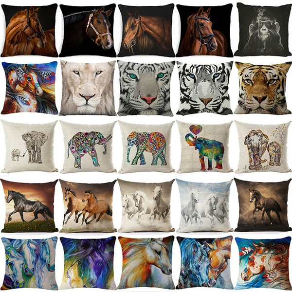 Picture of Fashion Home Decoration Animal Cotton Linen Square Pillow Cases Sofa Car Throw Pillow Cushion Cover