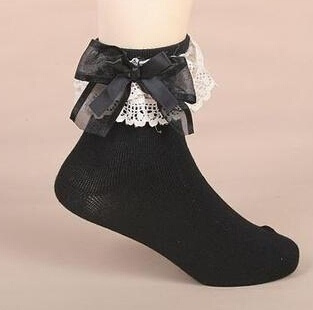 1pcs Cute Lace Bow Solid Socks for Children Meias Calcetines Kids Korean Spring Socks for Girls Socks