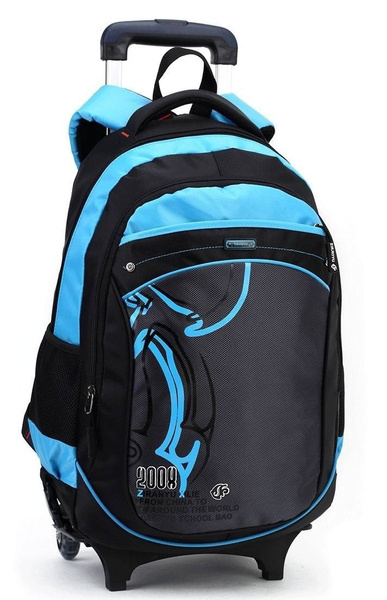 Wish   Casual trolley backpack wheels school books children kids bag  shoulder backpack with detachable for boys grade class 2-5 middle 4d1d20343c