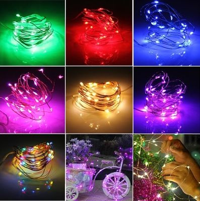 Picture of 2m 20 Leds Button Battery Operated Led Copper Wire String Fairy Lights Party Se5
