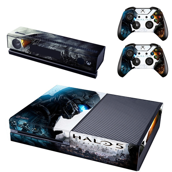 Xbox One Console Vinyl skin decal and two DualShock Wireless Controller  skins cover stickers Set for sony Xbox One system Console & Controller -