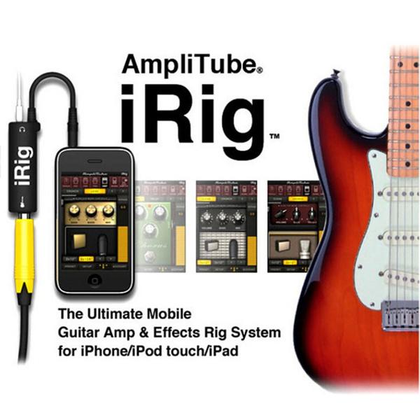 IK Multimedia AmpliTube iRig guitar interface adaptor for iOS devices