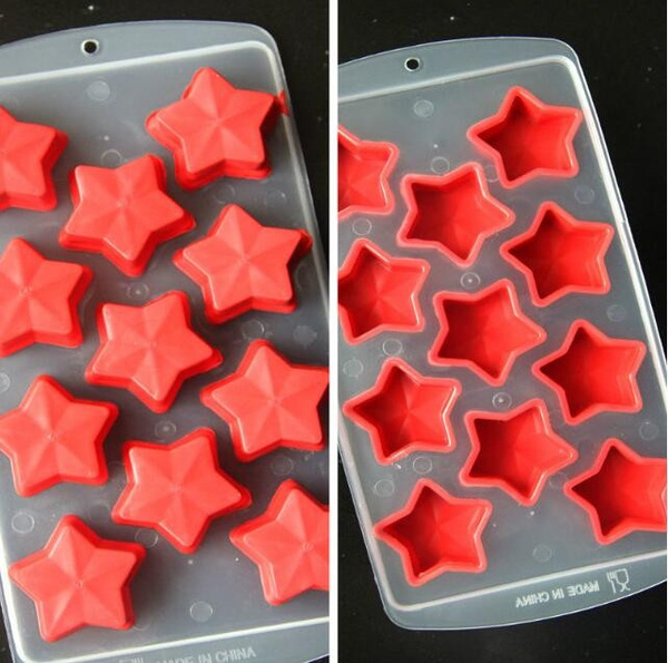 Style Random Freeze Ice Cube Tray Mold Maker Silicone Ice Box Ice Pattern DIY Pudding Jelly Dessert Chocolate Mould (Color: Multicolor)