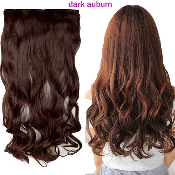 Wish Grade A 17 Inch Curly Hair Extensions One Piece With 5 Clips