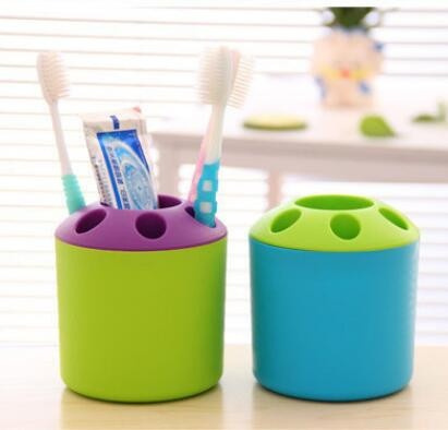 Special Porous Couple Creative Toothbrush Holder Toothpaste Mouthwash Multi-function Desktop Pen Holder Rack Storage