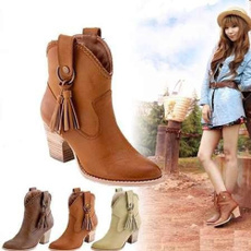 Cowboy, pointed, Boots, highheelboot