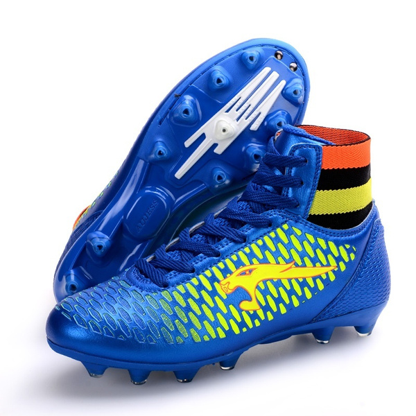 c33aadd2c66 Leather Mens Soccer Boots 2016 Outdoor Long Spike FG Football Shoes ...