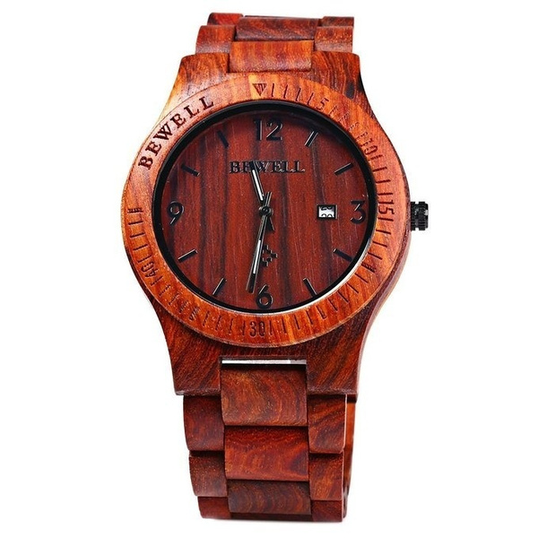 men box watches products handmade s gift mens unique quartz analog natural bamboo with watch designed round casual wooden