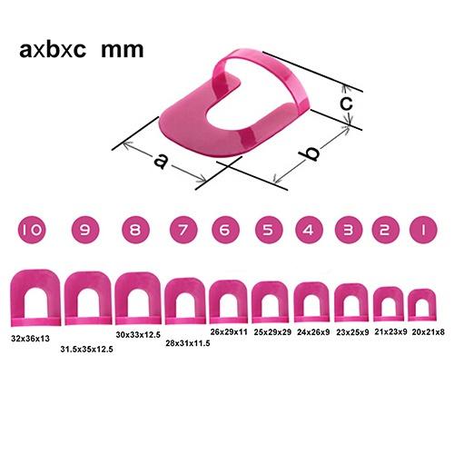 Wonderful 26x Nail Polish Edge Anti-Flooding Plastic Template Clip + 1 Pc Sticker Tool Set (Size: One Size)