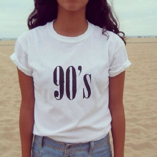 Picture of 90's All-match Short Sleeved T-shirt Street Fashion T-shirt