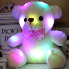 Night Light LED Flash Stuffed Plush Bear Soft Doll Toy Home Decor Xmas Birthday Valentine's Gifts