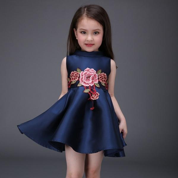 2016 Neue Baby Mädchen Kleid Geburtstagsfeier Taufe Hochzeit Pageant Kleid Kinder Kleidung