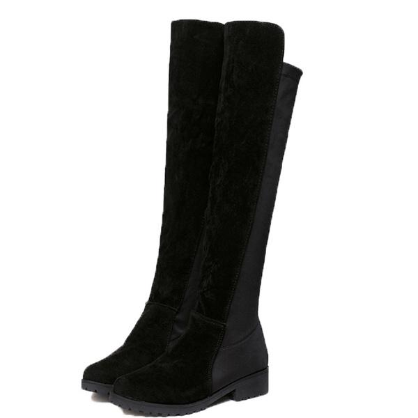 la mejor actitud 8d1e2 e38de Envío gratis zapatos de mujer botas altas negras gruesas botas de mujer  nueva moda botas sobre la rodilla botas botas mujer32