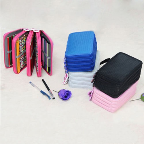 Hot Portable Colors Pencils Drawing Sketching Pencils Case Holder Bag FOR 72pcs